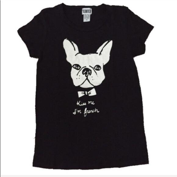c1e1580ee Scratch Tops   French Bulldog Tshirt Kiss Me Im French S New   Poshmark